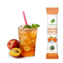Private label flavor tea SUPER instant fruit tea powder extract Peach Green Tea for help kin care