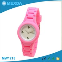Wholesale cheap kids fashion cute silicone waterproof watch for girl