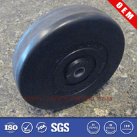 OEM 3 inch solid small rubber wheels