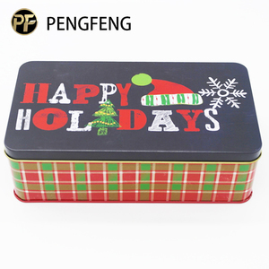 Cute painted color christmas gift custom metal box