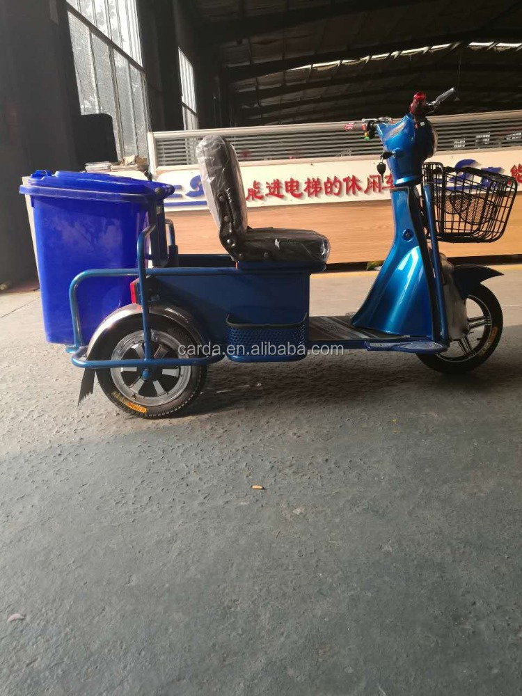 Elctric tricycle with Garbage Bin