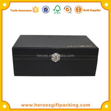 Trade Assurance Tools Ornaments Jewelry Black Paper Box With Metal Lock