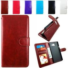 Premium PU Leather Wallet Cases Flip Cover for Samsung Galaxy A3 2016 Smartphone