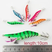 Hand made Tackle Hooks squid jig soft fishing lure free sample