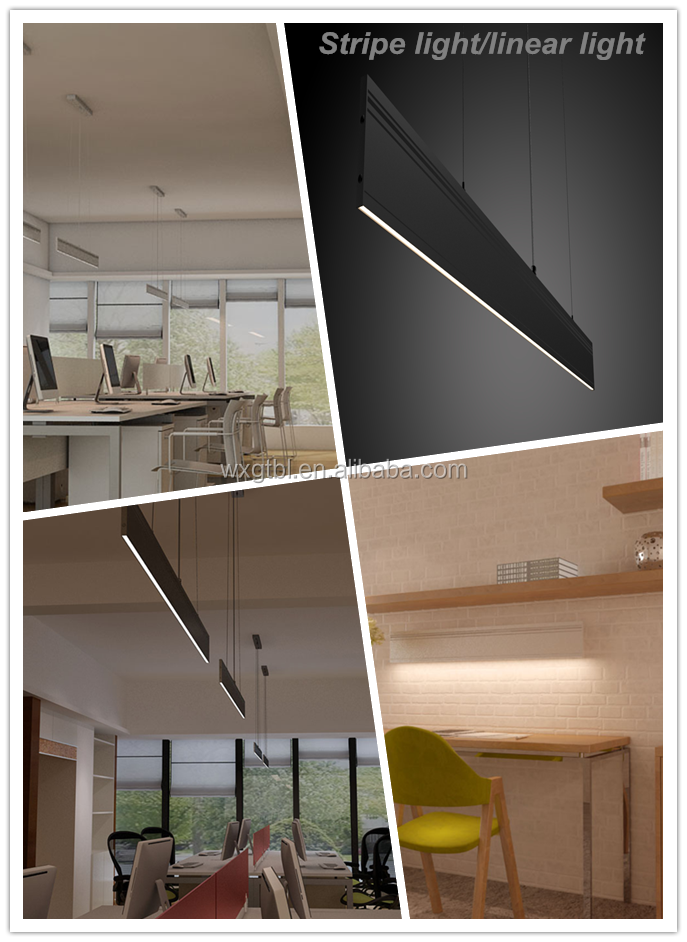 Modern contemporary linear lights, pendant office lighting (JS-DC-600-1)