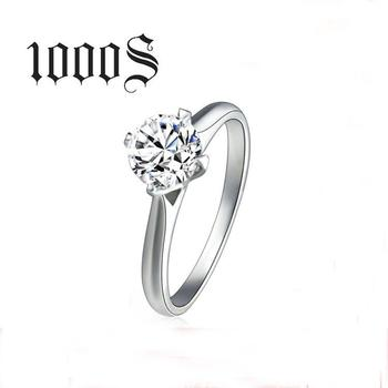 1000s Romantic Wedding Rings Jewelry Cubic Zirconia Ring for Women Men 925 Sterling Silver Rings Accessories