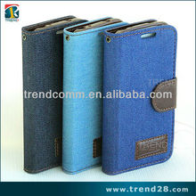 hot selling wallet leather case for samsung s4 mini case