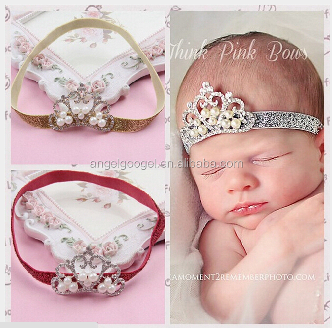 Beautiful cheap crystal hair accessories Pure handmade baby bridal crystal crown MY-AC0004