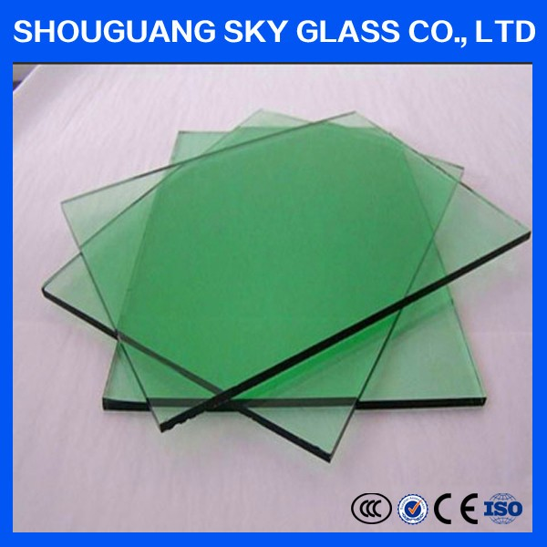 5mm Dark green float Glass/green float Glass/Tinted Glass for decoration