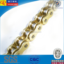 420 gold color O-Ring and X-ring Motorcycle Chain