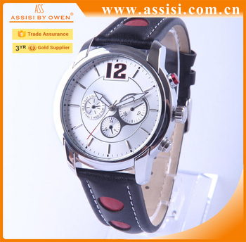 classic style custom luxury brand leather business watches men's oem watch