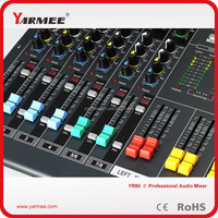 YM120 12-channel China high quanlity sound system/karaoke sound system Audio Mixer --YARMEE