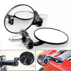 "Hot sale 1 Pair Motorcycle Round 7/8"" Handle Bar End Foldable motorbike Rear View Side Mirrors For Suzuki Kawasaki Honda Yamaha"
