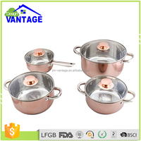 High quality mini wide edge SS cookware pan/ stainless steel kitchen applicance/houseware cooking pot sizes