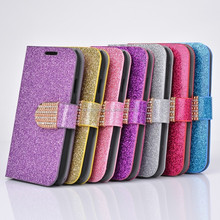 Luxury Bling Crystals Glitter Flip Leather Case Cover For Samsung S4 Wallet Phone Bag Rhinestone Cover + Card Slot