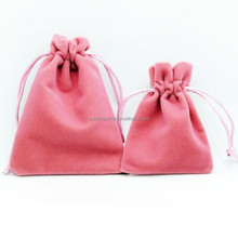 small custom printed suede jewelry pouches / velvet jewelry bags