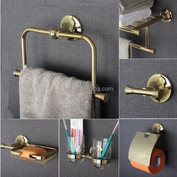 High End Luxury bathroom Series European Modern Fashion Towel Ring/ Toilet Paper Holder/Cup Holder/Robe Hook bathroom hardware