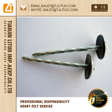 Low carbon steel Galvanized Roofing Nails With Umbrella Head