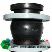 Flexible rubber joint knife gate valve