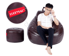 Europe style Original adult size PU leather big sitting bean bag