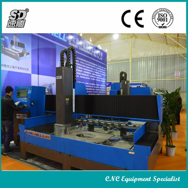 CNC Router open hole cutting polishing edging profiling stone marble granite countertop cutting machine