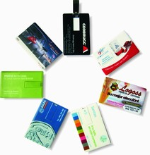 Custom your logo 4gb credit card usb flash drive , promotional business USB plastic card, 1gb to 16gb