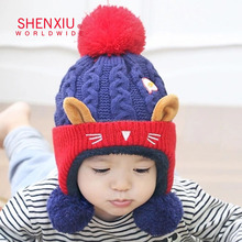 Fashion newborn baby hat knitting pattern beanie custom logo