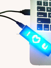 Programmed messages brightness adjustable mobile display blue light LED name tag