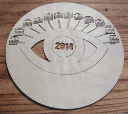wood laser cut Discs wood big Circles with eye engraved