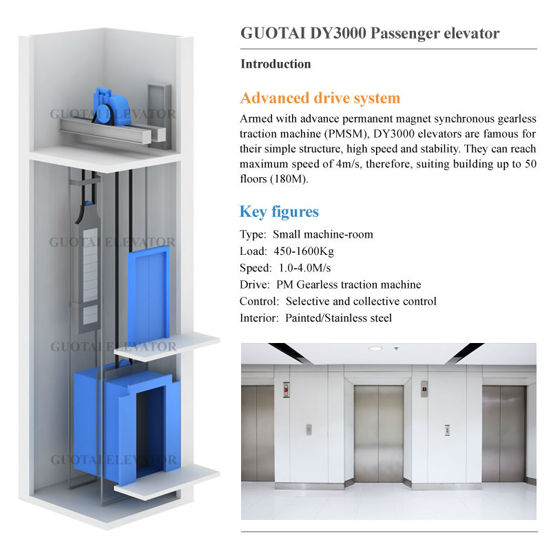 Passenger elevator (for hotel/office building/apartment/mall)