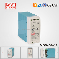 60W 12v 5A led driver, Single Output DIN Rail Power Supply,MDR-60-12 switch power supply