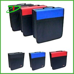 Functional wholesale home use carrying CD holder, 272 Disc leather DVD case