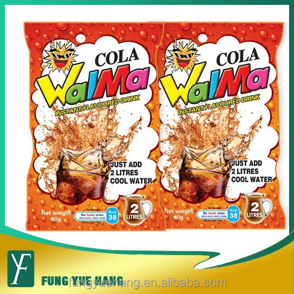 60G cola flavor instant dried powder fruit juice for Africa market