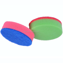Diametre 10cm,thickness 3cm Non-scratch High Density Round Kitchen Cleaning Sponge