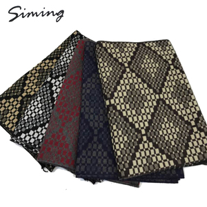 Made in China new design patterns  fashion polyester winter knitting scarf