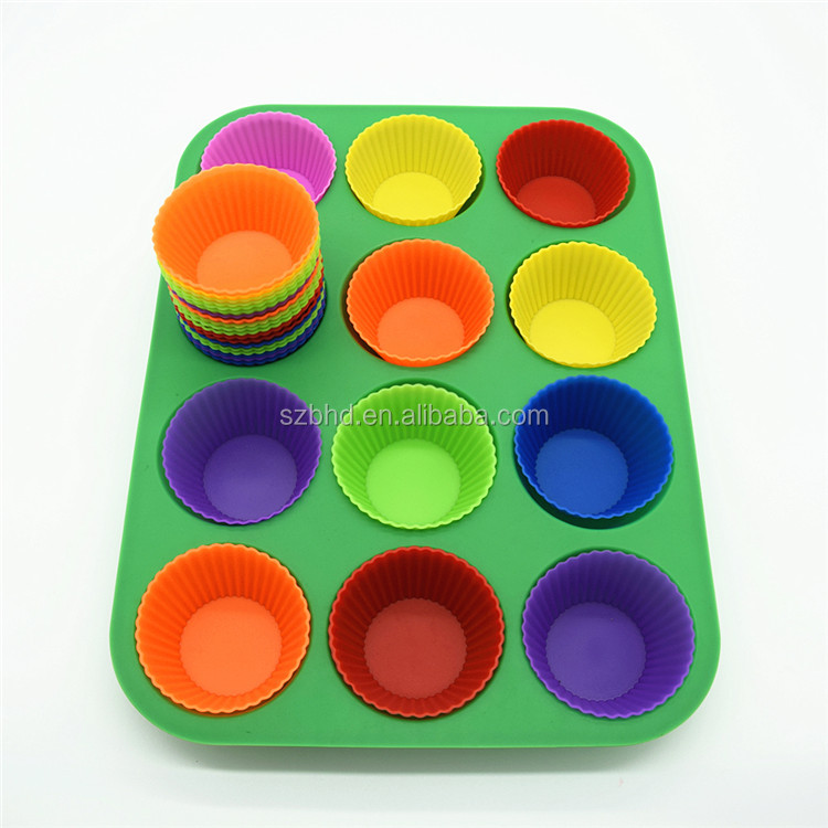 12 cup food grade Silicone microwave safe cake baking pan