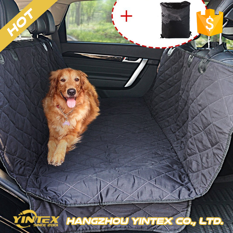 Easy carry and install luxury comfortable pp cotton filling breathable oxford fabric waterproof car back seat cover for pet dog