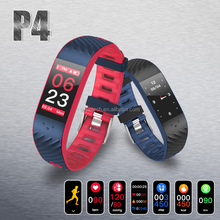 2018 Wholesale cheapeast newest Smart watch phone Bracelet Waterproof Smart Band P4 with Color display