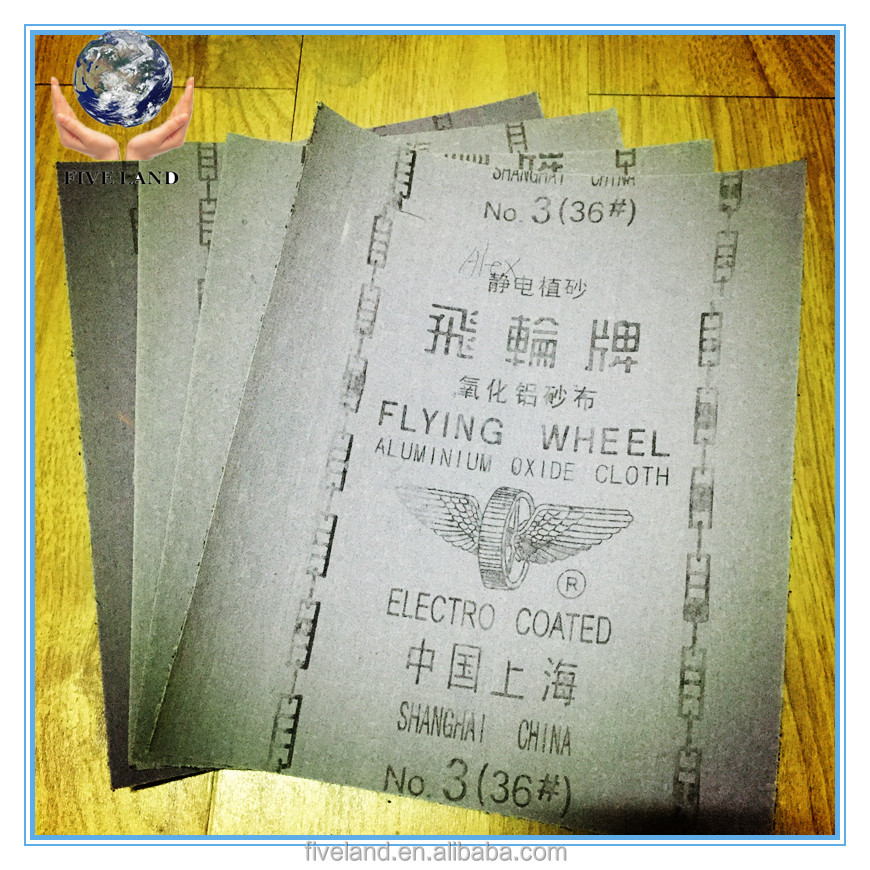 emery cloth sandpaper of flying wheel
