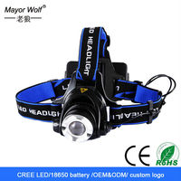 Aluminum alloy good quality led headlamp flashlight,cree high power police led headlamp