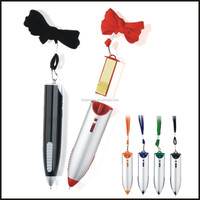 Top selling Promotional gift plactis notepad ballpen with neck cord