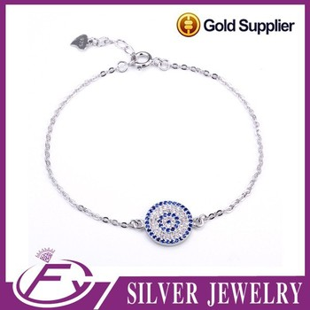 Micro setting 925 sterling silver natural colorful crystal bracelet