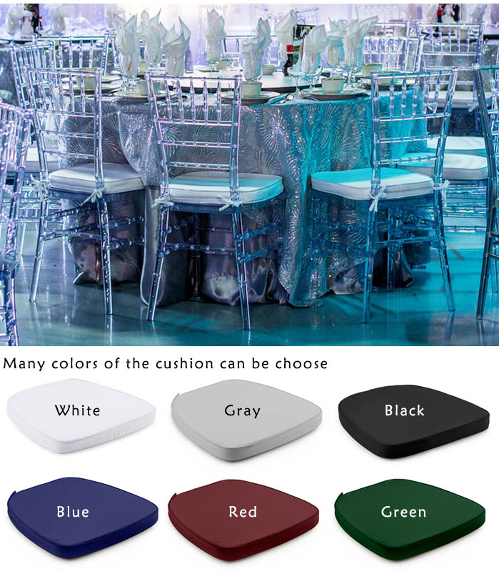 resin plastic crystal cheap tiffany chairs for rental