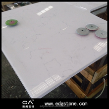 Carrara white surface fossil quartz stone countertops