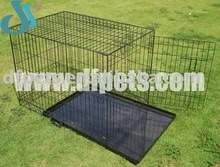 Collapsible Pet Dog Cages With Plastic Tray