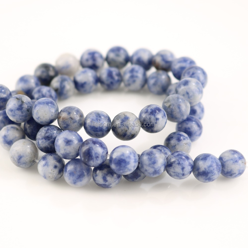 Wholesale Natural Dull Polish White <strong>Point</strong> Sodalite Stone Beads For Jewelry Making DIY Bracelet Necklace 4/6/8/10/12 mm 15''