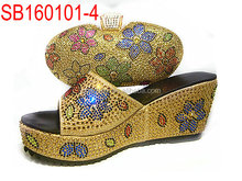 ladies shoes/ladies shoes and matching bags/italian shoes and bag set SG16-101 YELLOW