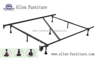metal bed frame twin full with center bar 7 legs