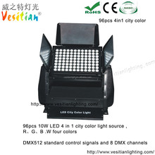 alibaba]ru outdoor wall washer up Lights IP65 building decoration wash,LED City Color 96*10W RGBW 4 in 1