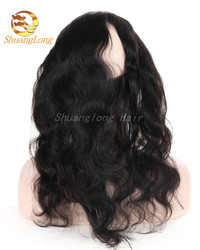 Factory Wholesale Price 100 Virgin Brazilian Hair 360 Lace Frontal